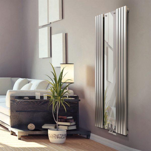 Дизайн радiатор Radox Vertica Mirror – styleradiators.com.ua